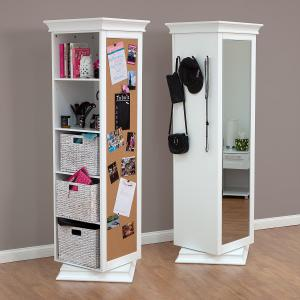 Display-It Rotating Swivel Storage Mirror and Bookcase