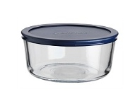 Briscoes NZ Anchor Hocking Glass Dish With Blue Lid 1.7Litre