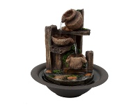LivingStyles Pots On Timber Fountain - 25cm
