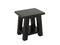 LivingStyles Showa Solid Mahogany Timber Lamp Table - Chocolate