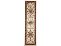 LivingStyles Medallion Runner in Ivory with Red Border - 400x80cm