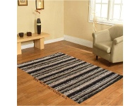 LivingStyles Designer Shaggy Rug - Mix Chocolate 160 X 230CM