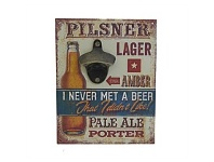 Living & Giving Pilsner Lager Wall Plaque 23x18cm